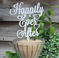 Wedding Cake Topper - Happily Ever After, Wedding, Engagment, Love, acrylic
