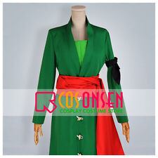 Cosonsen One Piece Roronoa Zoro Cosplay Costume Green Full Set All Sizes