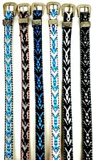 Multi-Colored HATBAND w Silver Buckle Set List#2 Cowboy Cowgirl Hat Band Western