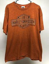 Harley Davidson Men's XL Winterville NC Orange T-Shirt Pirate Graphic