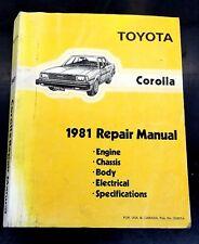 1981 toyota corolla repair manual