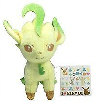 "Pokemon I LOVE Eevee Plush Doll - 48085 ~ 6"" Leafeon"
