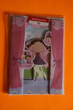 CARTE POSTALE  Anniversaire  3D  Fille + enveloppe Blanche . 12 x 16 cm