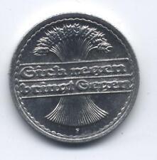 Deutsches Reich 50 Pfennig 1922 F Ährengarbe