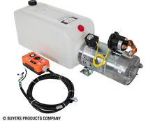 BUYERS PU319LR 3-Way DC Power Unit Electric Controls Horizontal 1.50 Gal Poly