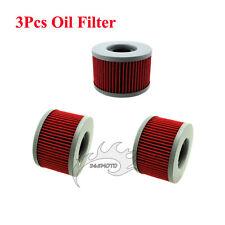 3x Oil Filter For Honda CB250 CB350S CB400 CB450SC CB450DXK CB500T CBX400 CBX550