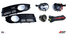 VW TOURAN 03-06 FOG LIGHTS LAMPS GRILLE KIT SET + WIRING & HEADLIGHT SWITCH AUTO