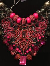 Genuine Swarovski 'BEE' crystal / beaded necklace in stunning hot pink BNIB £695