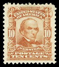 Scott 307 1903 10c Webster Regular Issue Mint VF OG HR Cat $60