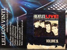 Los Beatles Live! Vol 1 Star Club de Hamburgo 1962 Lp shlp 130 A/B Pop Beat años 60