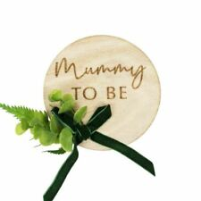 Ginger Ray Baby Shower Badge - Mummy To Be, Natural Brand New In Box