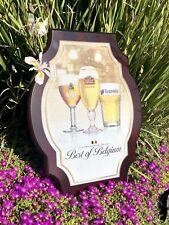 Leffe Stella Artois Hoegaarden Belgium Beer Bar Pub Man Cave Wood Sign  Mirror