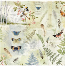 BTY Winget FOREST STUDY Lg Allover Green Print 100% Cotton Quilt Fabric by Yard