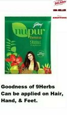 Godrej Nupur Henna 💯% Natural for Hair Color with Goodness of 9 Herbs, 120grms.