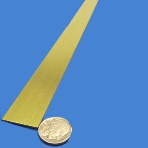 """353 Brass Flat Bar 1/16"""" Thick x 1.0"""" Wide x 36.0"""" Length"""