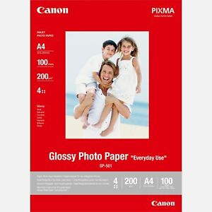 CANON A4 PHOTO PAPER GLOSSY GP-501 PRINTING PHOTOS PREMIUM CHEAP VALUE EVERYDAY