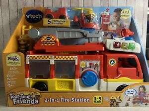 Vtech ~ Toot-Toot Friends ~ 2 in 1 Fire Station ~ 1-5 years ~ BNIB
