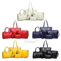 6PCS Women Handbag Shoulder Bags Tote Purse PU Leather Ladies Messenger Bag