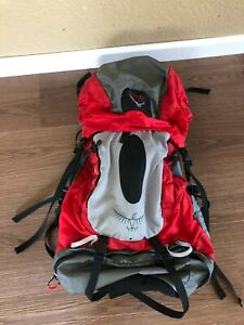 Osprey Atmos 65 Backpacking Backpack Size Large Red/Gray/Black - Excellent!