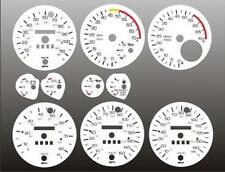 1982-1989 Chevrolet Camaro Dash Instrument Cluster White Face Gauges 82-89