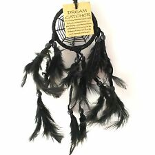 NEW BLACK SPIDER WEB DREAM CATCHER NATIVE AMERICAN HANGING MOBILE