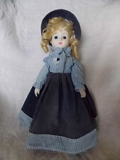 Bisque or Porcelain Head Hands Feet Cloth Body Musical Doll Raindrops Falling