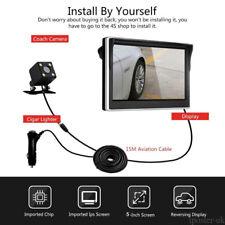 "DIY 4 PIN Rear View Kit 5"" Monitor+HD Mini COMS Reversing Camera For Car Van SUV"