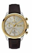 Bulova Accu Swiss Men's 65C112 Murren Chronograph Automatic Leather Strap Watch