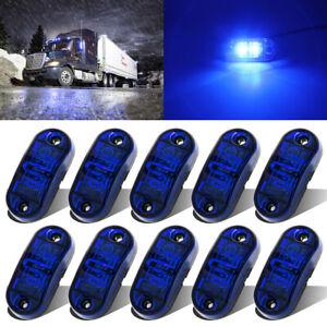 10x 12V-24V Blue LED Side Marker Clearance Lights Indicators Trailer Caravan RV