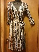 Diane von Furstenberg Wrap Dress Womens Sz 0 DVF Oasis Snake New Julian Two Silk