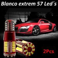 Bombillas T10 LED Canbus, 57SMD 5630 5W5, mas potente del mercado.