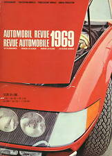 Automobil Revue Automobile 1969 • Catalogue Number • GOOD