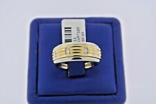 18k Two Tone Gold 1.00 CT Baguette Diamond Men's Wide Band, 13.5gm, S103411