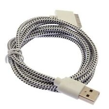20X Strong Braided Data Sync and Charging USB Cable Lead iPhone 3GS 4 4S iPad 3