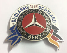 Car Badge Automobilia Vehicle Parts & Accessories Mervedes Benz-sl-club Pagode Car Grill Badge Emblem Logos Metal Enam