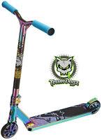 Team Dogz Pro X ULTIMATE Stunt Scooter Neo Chrome Rainbow Kids Push Kick