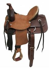 """13""""Buffalo Youth hard seat roper style saddle"""