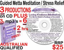 LOVING KINDNESS METTA MEDITATION RELAXATION CD & MP3 s & GRATITUDE eJOURNAL Inst