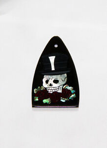 Truss Rod Cover with Skull, Hat, & Roses Inlay will fit PRS