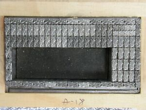 Letterpress Lead Type 12 Pt. Decorative Border    A18