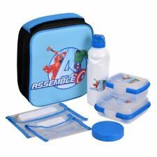 Marvels Avengers 7 Piece Kids Lunch Kit Set 10 Inch [Blue]
