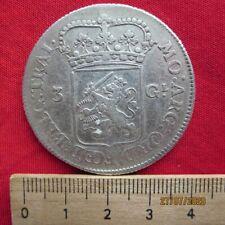 Niederlande  3 Gulden 1763 Utrecht - ss mit Zertifikat