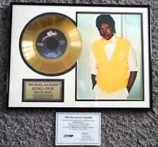 Michael Jackson Billie Jean Framed Gold Record Official!