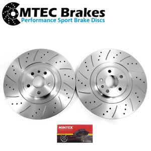 Audi SQ5 3.0 BiTDi 12-17 Drilled Grooved Front Brake Discs & Mintex Pads 380mm