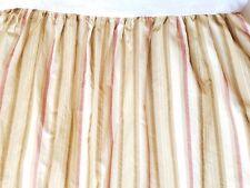 "CHAPS Ralph Lauren Twin Bed Skirt Tan Rust Striped 15"" Drop"