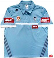 Adidas Sydney FC 2013/14 Player Issue Media Polo Shirt. Size XXL, Exc Cond.
