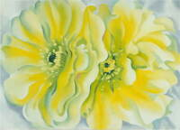 Georgia O'Keeffe Yellow Cactus Canvas Print Paintings Poster Giclee Canvas Print
