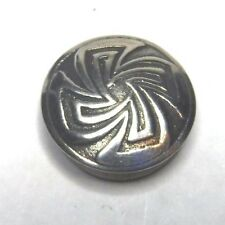 """Overlay Concho Button Cover Southwestern 5/8"""" Silver Etched"""