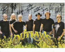 8 1/2 x 11 Glossy Photo The Outlaws Autograph {285}