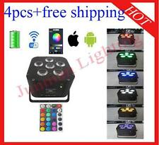4pcs 6*18W RGBWAP 6 in 1 Wireless DMX IR Battery Wifi Led Par Free Shipping
